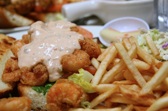 got what I came for: the Cornmeal-fried Shrimp Po'boy with chipotle ...