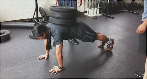 Image result for weighted push up pic